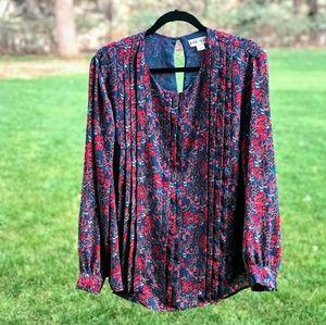 Ava Viv women's top shirt blouse sz X